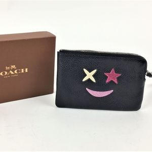 Coach F22740 Glitter Star Corner Zip Wristlet